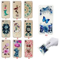 Wholesale owl phone covers - Shockproof Soft Tpu Case with bulky Corners Gasbag Transparent Phone cases Cover For iPhone X 6 7 8 plus Samsung Galaxy S7 Edge S8 S9 Owl
