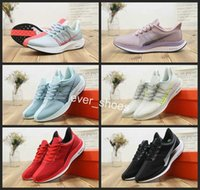 new arrival 3974c 7caf3 2018 Zoom Pegasus 35 Turbo Barely Grey Hot Punch Noir Blanc Mesh Chaussures  De Course Hommes Femmes React 35X fly Air Designer Sneakers 36-45