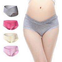 Wholesale Mothers Pregnant - 4 Pack Cotton Soft Maternity Pregnant Mother Panties Lingerie Briefs Low-Waist Underwear Underpants - 0811