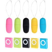 uzaktan kumandalı vibratör yetişkin toptan satış-MP3 Uzaktan Kablosuz Titreşimli çoklu Modları Uzaktan Kumanda Bullet Vibratör Seks Vibratör Yetişkin Seks Oyuncakları 3101015