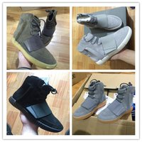 Wholesale Glow Dark Fabric - 2018 Boost 750 Light Grey Gum Glow In The Dark Kanye West Shoes Basketball Shoes Sneakers 750 Boost Men Sports Casual Boosts