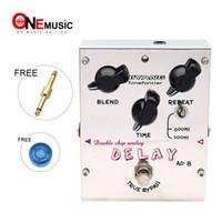gitarreneffekt pedal marken groihandel-Biyang AD-8 E-Gitarre Bass Effektpedal Double Chip Analog Delay True Bypass Nagelneu