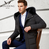 Wholesale Duck Collection - BOSIDENG New Winter Collection Winter men Coat Jacket Down Parka with a Real Raccoon Fur Coat for men BUSINESS BIG SIZE B1601175