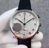Wholesale Port Leather - Mens Classic Series Limited Edition TG factory ETA 7750 chronograph mechanical movement diamond case leather strap port Luminous Wristwatch