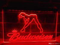 Wholesale blue dancer - LE133r- Budweiser Exotic Dancer Stripper Bar LED Light Sign