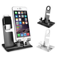 ipad şarj yuvası toptan satış-Telefon İzle Şarj Standı Apple iwatch için Dock Tutucu İstasyonu iwatch Serisi 1 2 3 iPhone X 8 7s 6s Artı iPad Pro