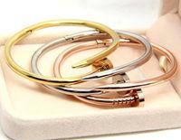Wholesale Roman Gold Bracelet - European and American couple titanium steel Roman black bay European and American couplerose gold bracelet Fashion Jewelry For Women and Men