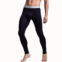 Wholesale thin thermal leggings online - KWAN Z thermal underwear mens modal leggings home pajamas thin section thermo compression underwear long johns sous vetement man