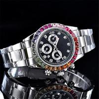 ingrosso braccialetti di diamanti neri-reloj Nuovi orologi da uomo di lusso con diamanti data giorno Moda uomo orologi automatici marca orologi da polso donne progettista bracciale nero giorno orologio da polso