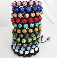 ingrosso il cristallo di qualità pavimenta i branelli-Colore poco costoso Misto Micro Pavimenta CZ Disco10mm Bead Bead Alta qualità Micro Pave Crystal Bracelet gioielli delle donne