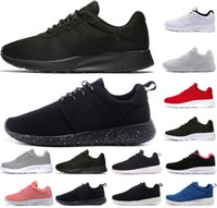 Wholesale hot trainers online - Hot tanjun london mens women running shoes triple black white with symbol red pink gray blue trainers sports sneakers