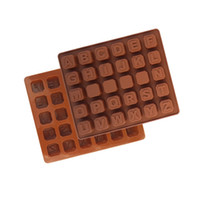 Wholesale candy cake letters - Baking Moulds Silicone Letters Alphabet Cake Fondant Mould Chocolate Cookies Candy Mold