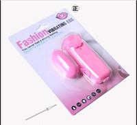 ingrosso uso del giocatore del vibratore-Imballaggio scatola rosa singolo salto uovo vibratore proiettile vibratore clitorideo stimolatore del punto g del sesso giocattolo macchina del sesso donne usano sacchetto OPP ok