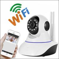 Wholesale Wireless Cctv 2mp - 2MP 1080P PTZ Wifi IP Camera IR-Cut Night Vision Two Way Audio CCTV Surveillance Smart Camera Yoosee APP Support TF Card