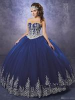 vestido royal dark al por mayor-Vestidos de Quinceañera Burdeos Oscuros 2017 Mary's with Sheer Bolero y Cordones Volver Apliques Royal Blue Sweet 16 Dress Por Encargo