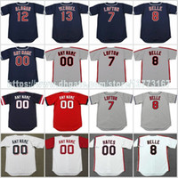 Wholesale womens jersey tops - S-5XL Mens Womens Kids 7 KENNY LOFTON 8 ALBERT BELLE 12 ROBERTO ALOMAR 13 OMAR VIZQUEL Cleveland Stitched Cusotmzied Jerseys Top Quality