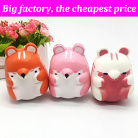 Wholesale cute hamsters online - Squishy hamster cm cm huge Slow Rising Soft Squeeze Cute Cell Phone Strap gift Stress children toys Decompression Toy