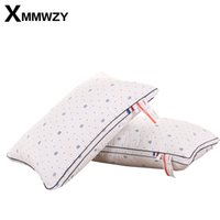 Wholesale Pillow Fiber - New Polyester Pillow Neck Comfort Neck Pillow Relief Elasticity 3 Kinds Highly Support Health Care Printing Pillows 48x74cm