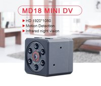 Wholesale ups camcorders for sale - Group buy Mini DV Camera MD18 HD P DVR Camcorder AVI Format Infrard Night Vision Motion Detection sports camera Support up TO GB