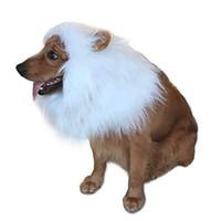grandes cosplay venda por atacado-Bonito Animal De Estimação Leão Juba Roupas Cosplay Leão Juba Transfiguração Juba Leão Inverno Quente Peruca Gato Grande Decoração Do Partido Do Cão