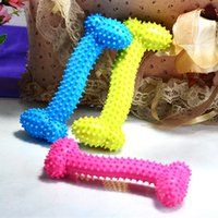 Wholesale Dog Teeth Bones - Bone Shape Puppy Cat Teeth Training Toy Resistance To Bite TPR Dog Chew Toys Multi Color Hot Sale 1 93kb C R