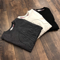 Wholesale waterproofing clothing wash for sale - New AW Luxury brand MC Sweatshirt Long sleeve fashion classic Logo pullover hoodie sweater Outdoor clothes Sweatshirt