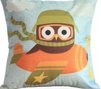 Wholesale pleasure massager - Owl Cartoon Submarine Trip Creative Red Pillow Decor Emoji Pillow Massager Decorative Pillows Pleasure Hee Home Decoration Gift