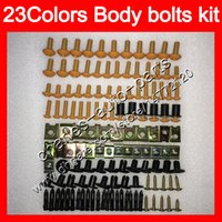 gsx750f 99 fairing 2021 - Fairing bolts full screw kit For SUZUKI Katana GSXF600 GSX750F 98 99 00 01 02 1998 1999 2000 01 2002 Body Nuts screws nut bolt kit 25Colors
