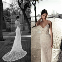 Wholesale bridal gowns resale online - 2018 Spaghetti Straps Sheath Wedding Dresses Lace Backless Simple Cheap Country Plus Size Wedding Bridal Gowns