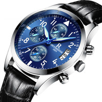 Wholesale Alloy Function - Luxury Men Automatic Watch High Quality Brand Chronograph Business Waterproof Full Steel Quartz Mens Watches Pilot Multi-Function Watch Box