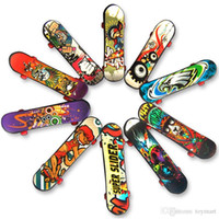 Wholesale Color Plastic Skateboards - Mini Finger Skateboard 9.5*2.6*1.3 CM OPP PKG Color Random Mini Fingerboard Scooter Skate Board Party Favors Educational Gift Toys For Kids