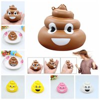 Wholesale family straps - Squishy Poo Family Emoji Pendant Fun Slow Rising Jumbo Cartoon Pendant Squeeze Cell Phone Strap Stress Reliever Kids Toy AAA143