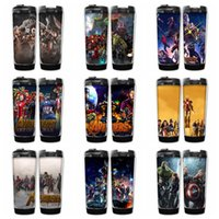 Wholesale infinity stainless wholesale - 9 Designs Marvel Avengers Infinity War Cups double insulated vacuum cups SuperheroThanos Stainless Steel Kids bottles Hydration Gear AAA442