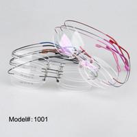 quadro óptico de titânio de memória venda por atacado-SPITOIKO 1001-50 pçs / lote sem aro memória dobrável titanium optical frame 9 cor escolher miopia óculos de prescrição de óculos