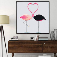 Wholesale best abstract art for homes resale online - Popular Frameless Flamingo Cross Stitch Full Drill DIY Round D Diamond Paintings Home Decorations Arts For Best Gift New bn ZZ