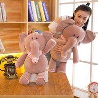 пернатый шарф оптовых-Новый перо хлопок шарфы маленький слон подушка кукла плюшевые игрушки, очень мягкое сиденье, слон Подушка декоративная подушка I453