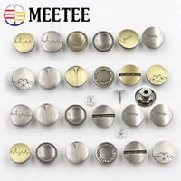 d3b02b74a2b MEETEE Metal snap Button Golden tich fastener for men coat Cowboy Buttons  for suits 17mm Women Denim Clothing sewing accessories