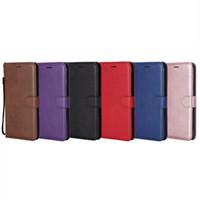 kitap cüzdan kılıfı toptan satış-PU Cüzdan Deri Kılıf Iphone XR XS MAX 8 7 6 6 S SE 5 5 S Galaxy Not 9 Not9 S9 S8 Telefon Kapak Çevirin KIMLIK Kartı Yuvası TPU Kitap Kılıfı Askı