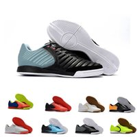 Wholesale cheap original cleats for sale - 2018 mens soccer cleats TimpoX Finale IC TF original soccer shoes soft ground football boots cheap Tiempo Legend VII MD Indoor New