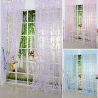 Wholesale Voile Curtains Scarf - Eyelets For Curtains Factory Price! 5 Colors Scarf Sheer Voile Door Window Curtains Drape Panel Valance