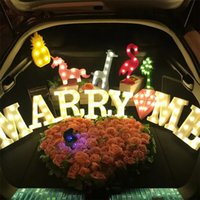 Wholesale 3d sign letters - 3D LED night Light Romantic Christmas Birthday Alphabet Letter Symbol Party Marquee Sign wall Table lamp Baby Kids Gift Toy