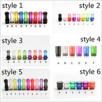 Wholesale Drip Tips Flat Mouth - Colorful Plastic Drip Tip 510 810 Drip Tip Flat Mouth Mouthpiece Transparent Colorfur clear For Ego Atomizer Ego Battery