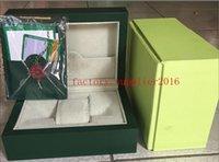 cajas de relojes originales para la venta al por mayor-Nuevos relojes ROLE de lujo Caja de roles para hombre Marca original suiza Cajas verdes Papeles Relojes Tarjeta de regalo Regalo para hombre hombre mujer venta 008
