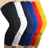 Wholesale leg protector knee resale online - Sports Care Knee Honeycomb Crash Protector Skeletal Outdoor Basketball Football Leg Protectors Custom Logo Support FBA Drop Shipping H388F