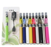 Wholesale ego cig kits - e cig eGo CE4 starter kit Single CE4 Blister Kits 650mah 900mah 1100mah EGO-T Battery CE4 Clearomizer case Atomizer vaporizer vape pen DHL
