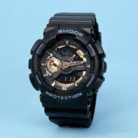 dış mekan çok fonksiyonlu saatler toptan satış-2019 Yeni Lüks erkek Saatler Açık Dropshipping Askeri İşlevli Spor Saatı Adam LED Dijital Bilezik Saat reloj hombre