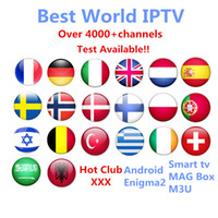 Wholesale Dvb Tv Box - IPTV Subscription Android TV Box +Europe Sweden Arabic French Italy Germany UK Hotclub Adult xxx M3U Enigma2 Smart TV Mag tv box