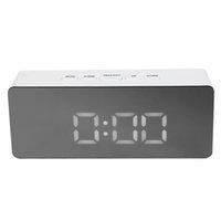 ночной будильник оптовых-Multifunction Digital Alarm Clock LED Night Light Mirror Digital Display Alarm Clock Temperature Display Snooze Home Decoration