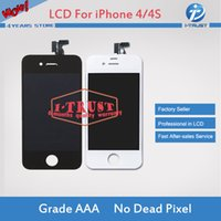 Wholesale iphone 4s lcd screens - Wholesales A+++ Quality For iPhone 4 4S LCD Digiziter and Best Repair Replacement Parts+ Repair Tools With Free Shipping