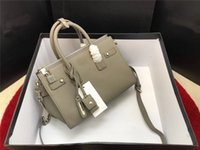 Wholesale spring tote handbags - 2018 New arrival women genuine leather designer handbags luxury famous brand bag tote clutch shoulder bags spring summer fashion